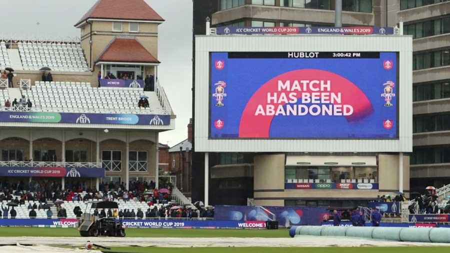 ভারত-নিউজিল্যান্ড বিশ্বকাপ ম্যাচ পরিত্যক্ত