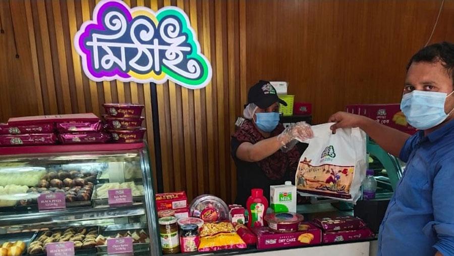 রাজধানীর উত্তরায় 'মিঠাই' এর শোরুম চালু