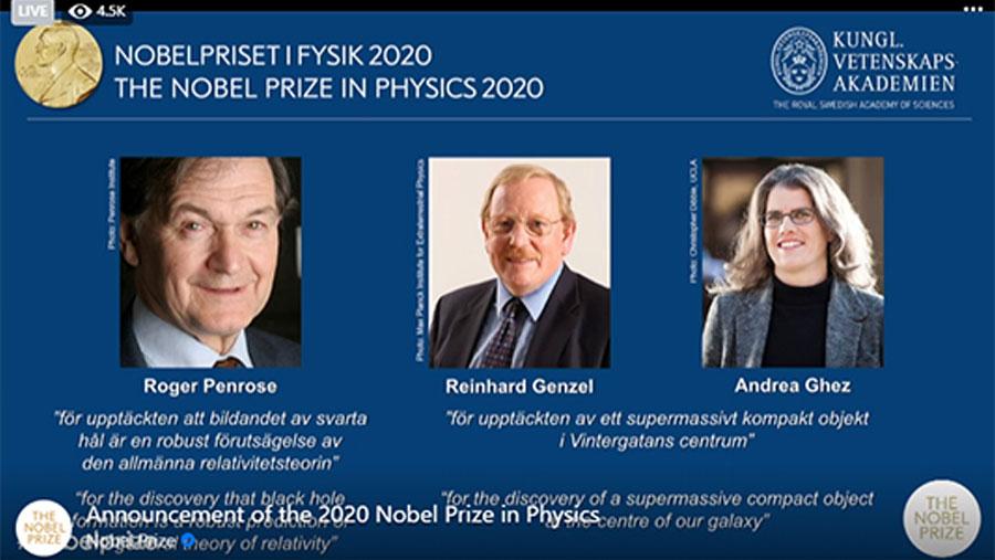 ব্ল্যাক হোল গবেষণার জন্য পদার্থবিজ্ঞানে নোবেল পেলেন তিন বিজ্ঞানী